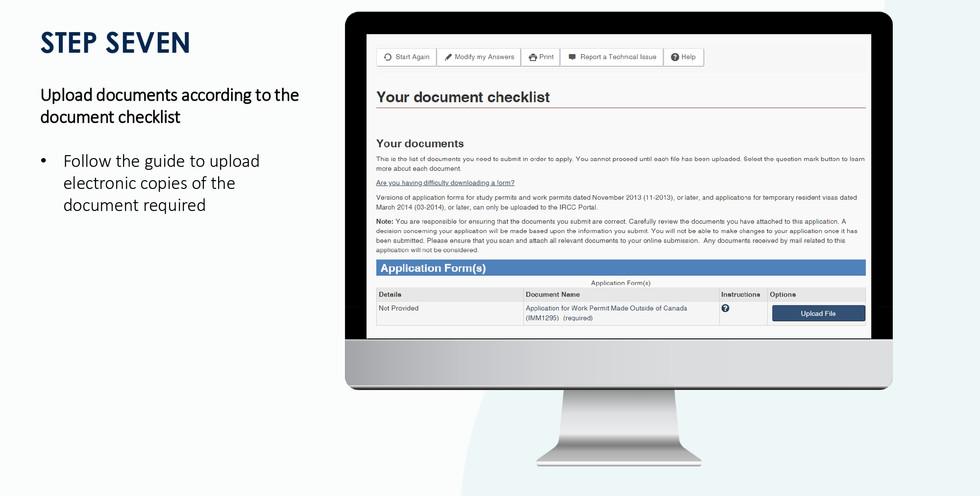Open working visa application guideline