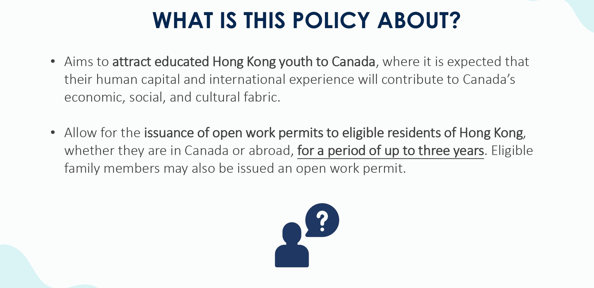 Open working visa application guideline