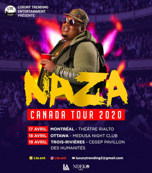 Upcoming Event: NAZA will be touring Canada in April 2020 for three Concert dates!