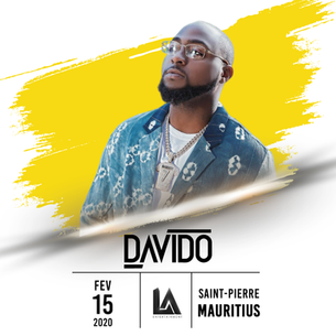Upcoming Event: DAVIDO is confirmed for a Live Concert in Saint-Pierre, Côte d'Or Stadium, Mauri