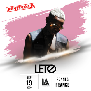 Upcoming Event / Postponed: LETO will be in concert in Rennes, France on September 19, 2020!