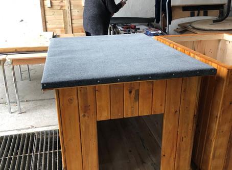 Hundehütten für's Tierheim sind fertiggestellt - Herzlichen Dank!