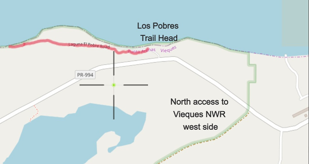Map of Los Pobres Hiking Trail