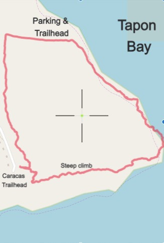 Tapon Trail Map on the Vieques NWR Eastern Tract