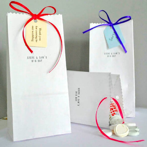 Pack of Ten Sweetie Favour Bags