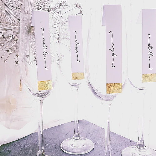 Gold/Silver Dipped Name Place Cards