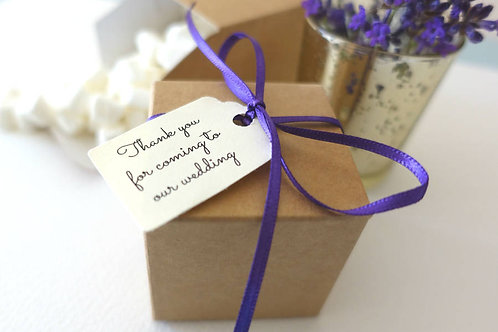 Pack of 10 Personalised Favour Boxes