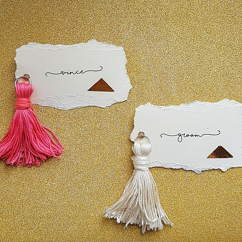 Tassel Name Place Card