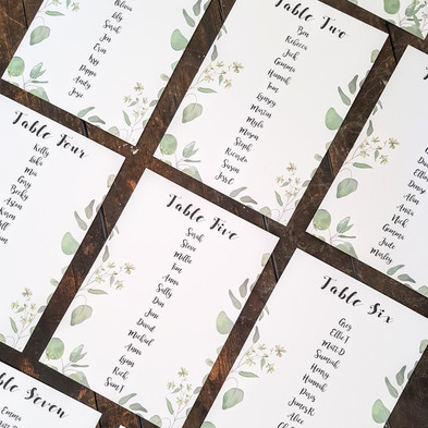 Bespoke table plan
