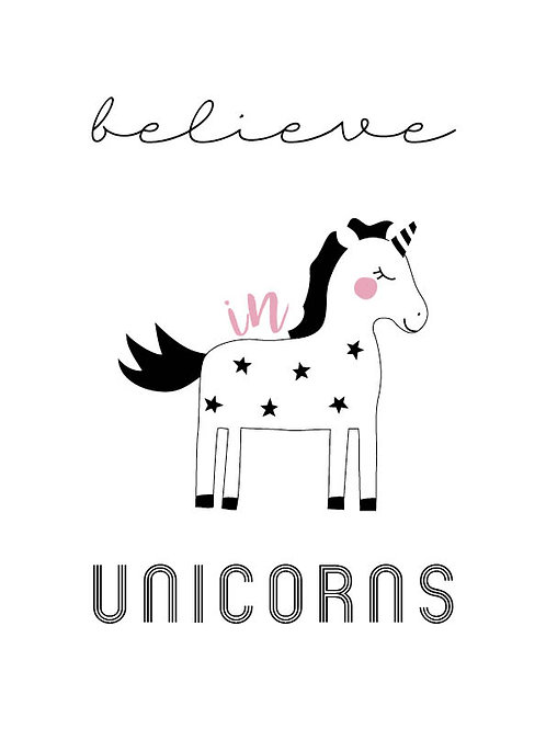 Believe in Unicorns digital print
