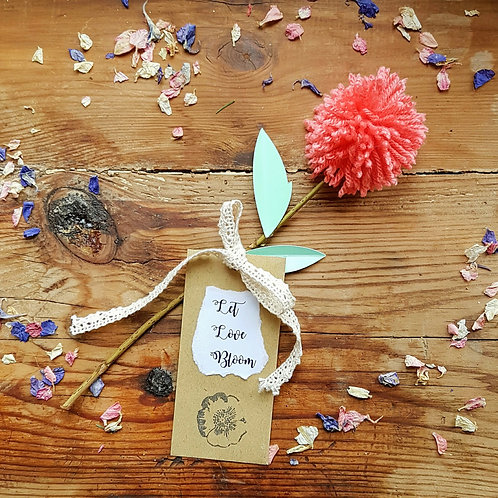PomPom Flower & Seed Favour