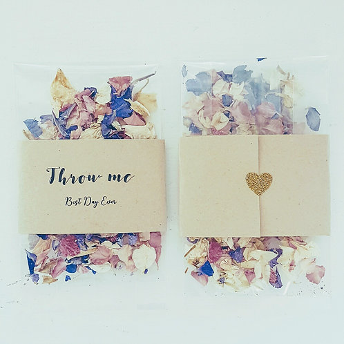 Pack of 10 Confetti Envelopes with Real Petals