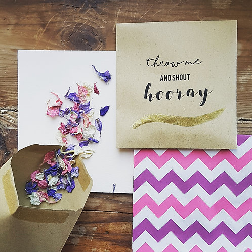 Pack of 10 Confetti envelopes