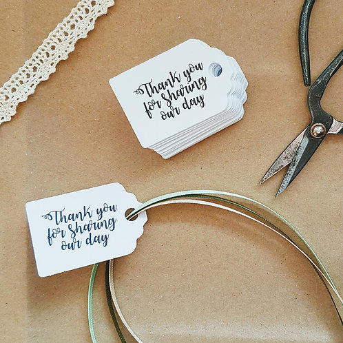Pack of 20 tags with your own personal message