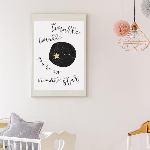 Twinkle Twinkle print
