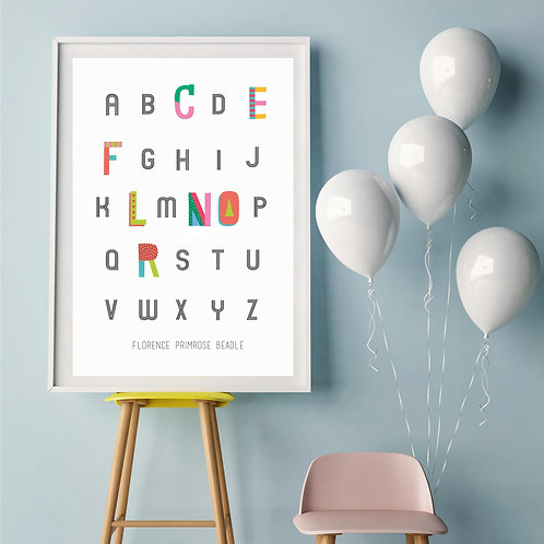 Personalised Alphabet Name Poster