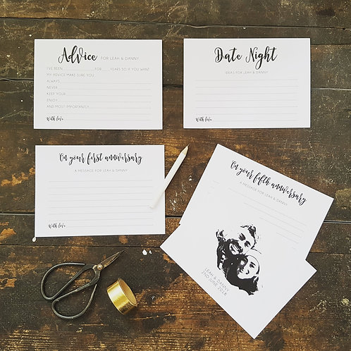 Personalised Fun Wedding Advice Cards