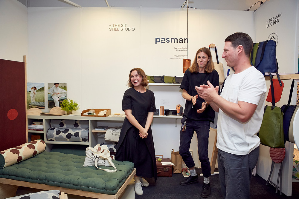 The sit still studio winning the london design fair associate prize 2019 at new designers one year in