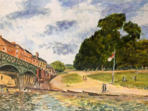 Hampton Court Bridge (after Alfred Sisley) - Acrylics