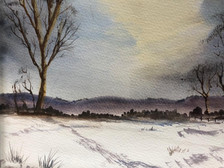 Winter Scene - Watercolour