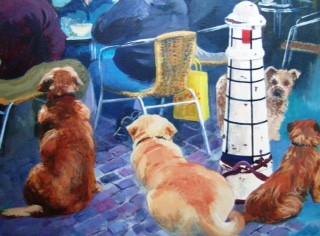 Dogs' Dinner - Acrylic