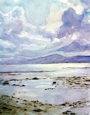 Sky at Seapark - Watercolour