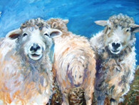 Sheep Behaving Badly - Acrylic