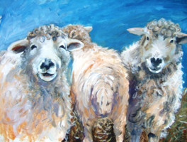 Sheep Behaving Badly - Acrylic