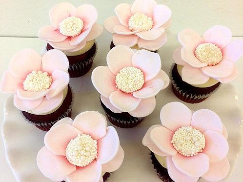 Flower Cupcakes, Bridal Cupcakes, Custom Cupcakes, Los Angeles Bakery, Sherman Oaks