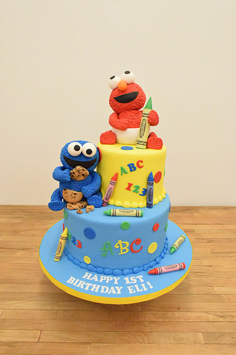 Elmo and Cookie Monster Cake Sesame Street, Los Angeles Bakery, Sherman Oaks Bakery