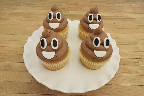 Emoji Poop Cupcakes, Birthday, Los Angeles Bakery, Sherman Oaks, Bakery
