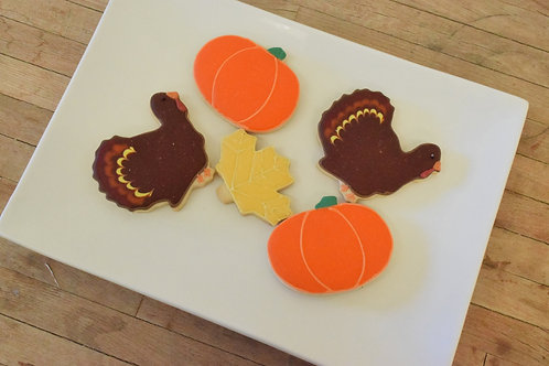Thanksgiving Cookies (6 per design)