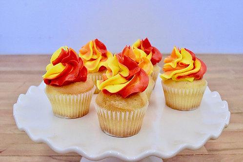 6 Flame Miniature Cupcakes