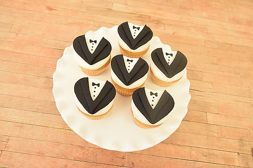 Groom Cupcakes, Bridal Shower Cupcakes, Custom Cupcakes, Los Angeles Bakery, Sherman Oaks