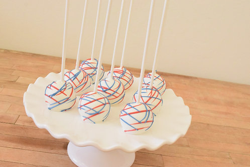 6 Drizzle Cake Pops