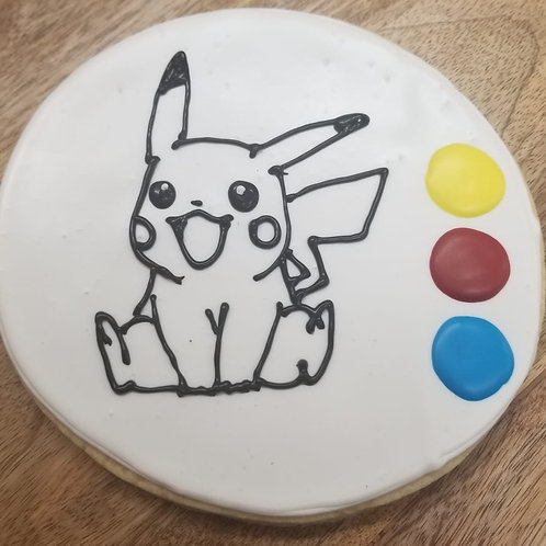 "6.5"" Color Me In Cookie (Pikachu)"