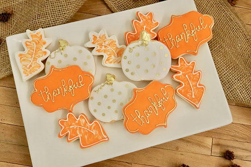 Thanksgiving Cookies (6 per design)