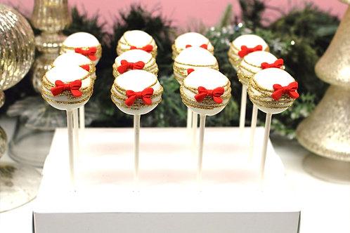 6 Christmas Cake Pops