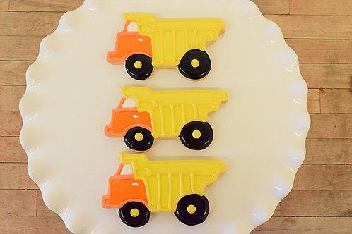 6 Dump Truck Cookies