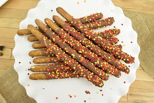 12 Leaf Chocolate Covered Pretzels