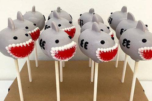 6 Shark Cake Pops