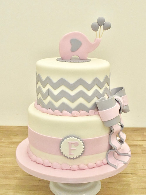 Elephant Cake, Custom Cake, Baby Shower Cake, Los Angeles Bakery, Sherman Oaks