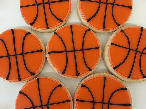 Basketball cookies, sports cookies, Los Angeles Bakery. Sherman Oaks, Bakery