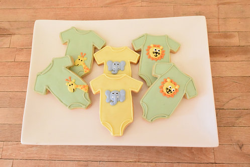Baby Shower Cookies, Animal Onesie Cookies, Custom Cookies,  Los Angeles Bakery, Sherman Oaks