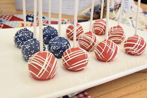 12 Flag Cake Pops