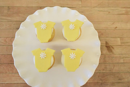 Onesie Cupcakes, Baby Shower Cupcakes, Custom Cupcakes,Los Angeles Bakery, Sherman Oaks