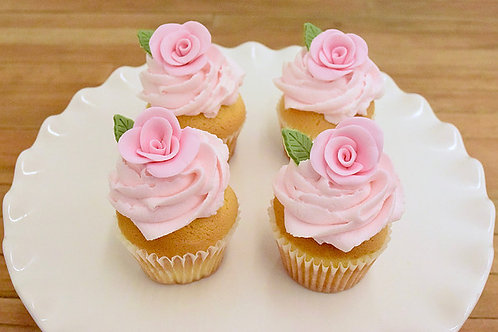 Rose Cupcakes, Bridal Cupcakes, Custom Cupcakes, Los Angeles Bakery, Sherman Oaks