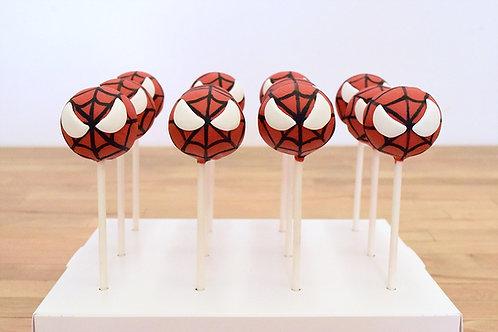 6 Spiderman Cake Pops