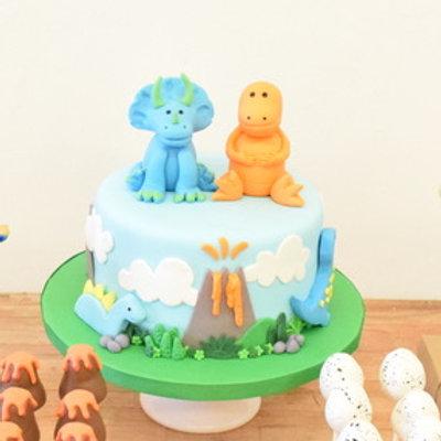 Double Dino Cake
