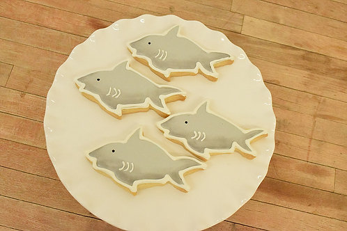 6 Shark Cookies
